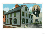 Salem, Massachusetts - Exterior View of Nathaniel Hawthorne's Birthplace, Photographic Print