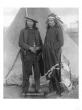 "Oglala Chiefs ""Red Cloud"" and ""American Horse"" Shake Hands Photograph - Pine Ridge, SD, Giclee Print"