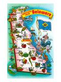 Map of Delaware Art Print