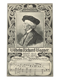 Richard Wagner & March from Tannhauser, Art Print