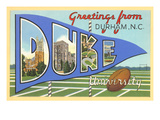 Greetings from Duke Art Print