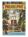Philadelphia, The City of Brotherly Love Art Print