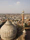 Old Delhi from Minaret at the Jama Masjid Mosque, Photographic Print