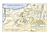 Map of the Six Iroquois Nations in Pennsylvania and New York, 1771, Giclee Print