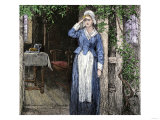 Evangeline, an Illustration from the Poem by Henry Wadsworth Longfellow, Giclee Print