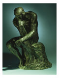 The Thinker, Le Penseur, Bronze with Black Patina, c.1880-1882, Giclee Print