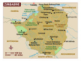 Zimbabwe, Africa, Map