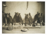 The Hopi Mealing Trough, Edward S. Curtis, Photographic Print