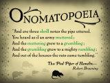 Literary Term: Onomatopoeia