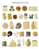 Cheeses of Italy Art Print