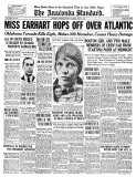 The Anaconda Standard, June 18, 1928: Miss Earhart Hops Off Over Atlantic, Art Print