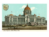 Little Rock State Capitol, Arkansas, Art Print