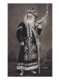 Edwin Forrest, American Actor, as Shakespeare's King Lear, One of His Most Successful Roles, 1860, Giclee Print