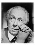 Frank Lloyd Wright Master American Architect in 1954, Giclee Print