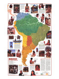 Indians of South America Map 1982, Poster