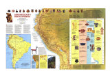 Archaeology of South America Map 1982, Giclee Print