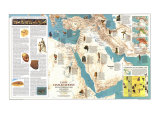 Early Civilizations in the Middle East Map (pub.1978), Giclee Print