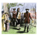 Nathan Hale Hanged by the British as a Spy, 1776, Giclee Print