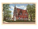 Zwaanendael House, Lewes, Delaware Art Print