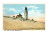 Henlopen Lighthouse, Rehoboth, Delaware Art Print