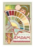 Foreign Graphics: Art Nouveau Color Chart Art Print
