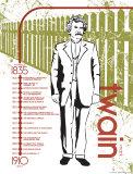 Mark Twain Timeline Art Print