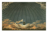 Night Queen with Stars, 1815. Giclee Print- The Magic Flute Stage Design by Karl Friedrich Schinkel