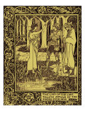 "The Achieving of the Sangreal, from ""Le Morte D'Arthur"" by Sir Thomas Malory Published 1893-94, Giclee Print, illustration Aubrey Beardsley"