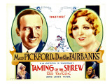 The Taming of the Shrew, Douglas Fairbanks, Mary Pickford, Mary Pickford, Douglas Fairbanks, 1929, Giclee Print