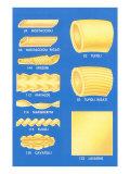 Varieties of Pasta, Art Print