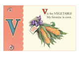 V is for Vegetable, Art Print