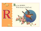 R is for Robin, Art Print