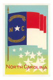 North Carolina Flag Art Print