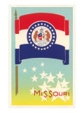 Missouri Flag Art Print
