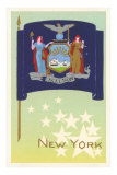 Flag of New York, Art Print