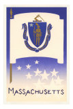 Massachusetts Flag Art Print