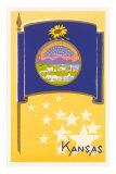 Kansas Flag Art Print