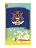 Michigan Flag Art Print