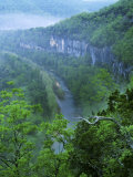 Aerial of the Buffalo River in the Ozark Mountains, Photographic Print