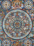 Mandala on a Tibetan Thangka, Bhaktapur, Nepal, Asia, Giclee Print