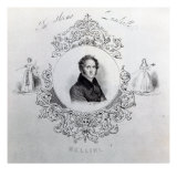 Cover of Sheet Music for a Quadrille, with a Portrait of Vincenzo Bellini, Giclee Print