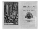 Title Page of the First Volume of the Collected Edition of the Spectator, Published C.1788, Giclee Print