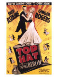 "Fred Astaire and Ginger Rogers in ""Top Hat"", Movie Musical Giclee Print"