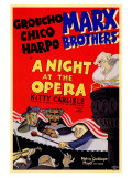 A Night at the Opera, Marx Brothers, Movie Reprint Poster
