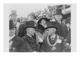 President and Mrs. Coolidge at Laying of Cornerstone of George Washington Masonic National Memorial, Giclee Print
