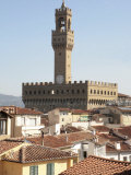 Palazzo Vecchio, UNESCO World Heritage Site, Florence, Tuscany, Italy, Europe, Photographic Print
