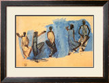Study of Five Cambodian Dancers Auguste Rodin Art Print