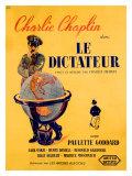 Chaplin le Dictateur, Giclee Print