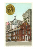 Old State House, Boston, Massachusetts Art Print