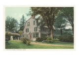 Concord, Massachusetts - View of Hawthorne's Wayside Residence, Giclee Print